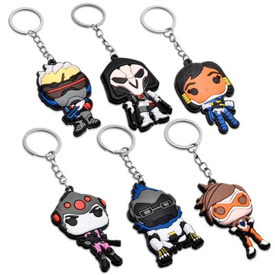 Overwatch Reaper Silicone Keychain Key Ring Pendant (A variety of styles)