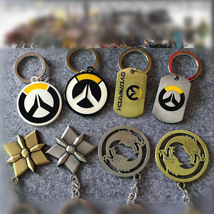 Overwatch LOGO Metal Keychain Key Ring Pendant Factory Store