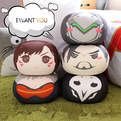Overwatch Round Cushion Cute Ball Hold Pillow Factory Store