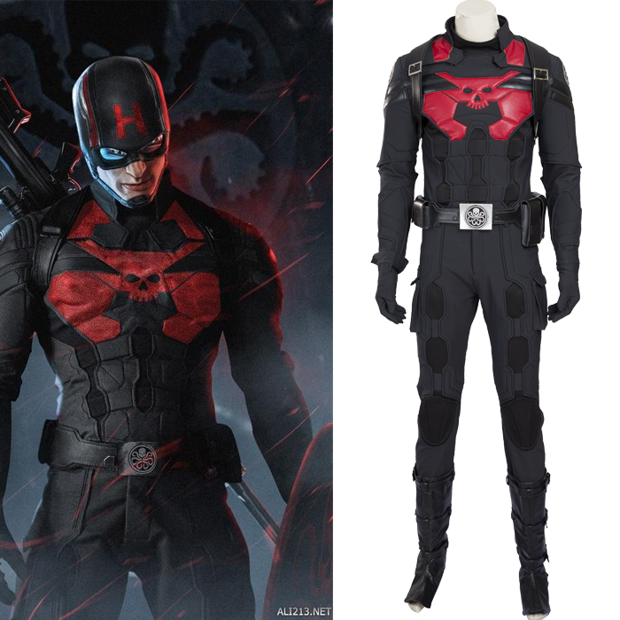 Captain America Hydra Cosplay Costumes Full Set