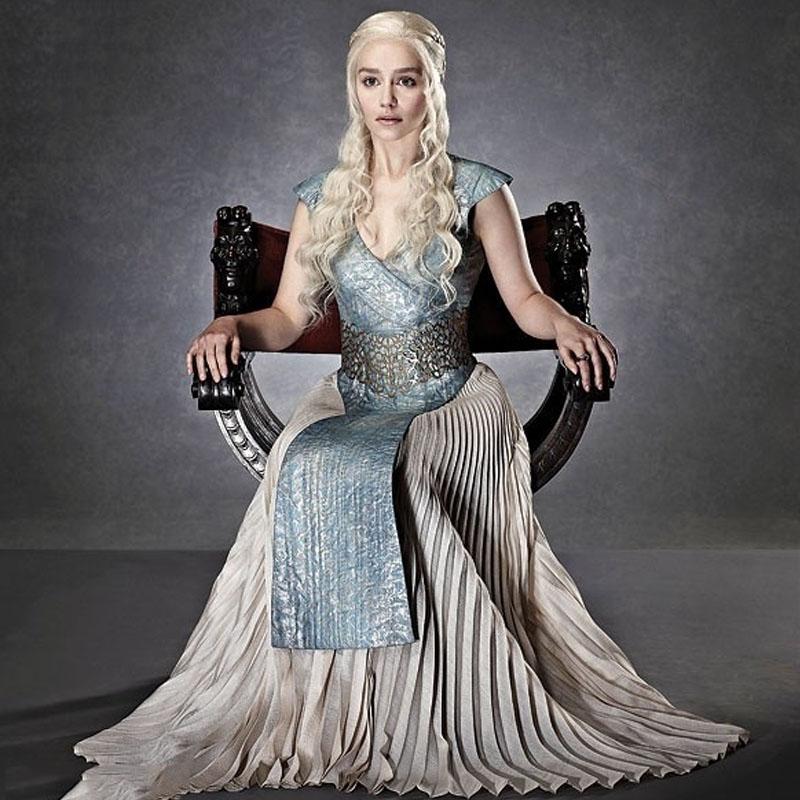 2016 Game Of Thrones Daenerys Targaryen Evening Dresses Cosplay Costume Halloween