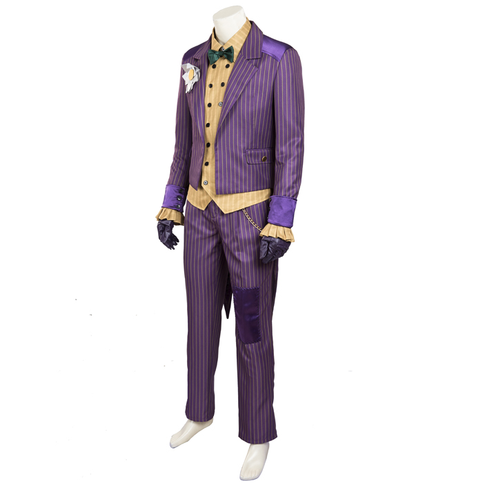 Batman Arkham Asylum Joker Cosplay Halloween Costume