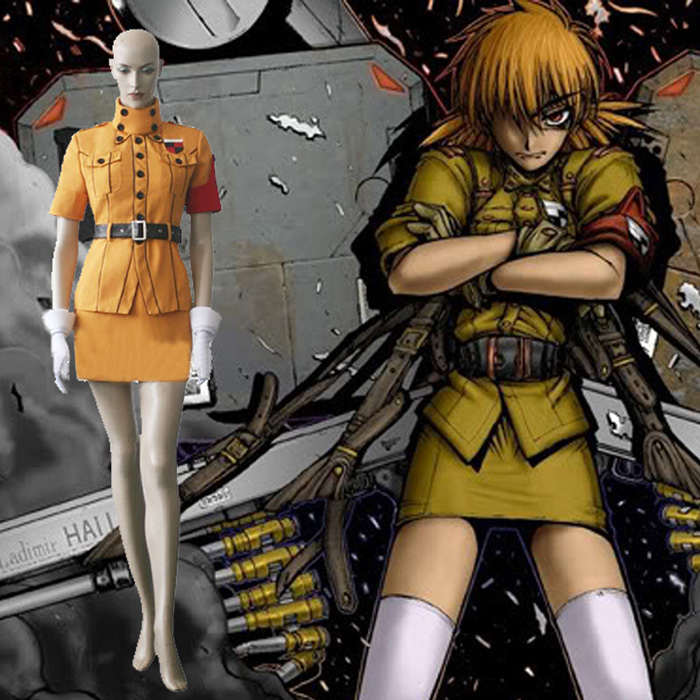 Hellsing West Los Vitoria Yellow Cosplay Outfits