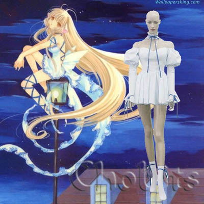 Chobits Chi Blue Cosplay Outfits Clothing
