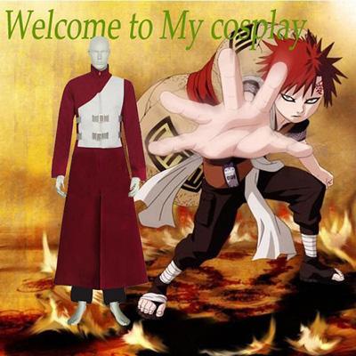 Naruto Shippuden Gaara Red Cosplay Outfits