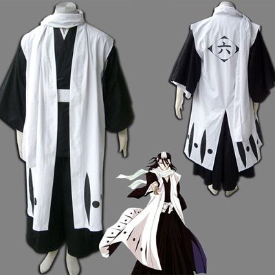 Bleach 6th Division Captain Kuchiki Byakuya Cosplay Outfits