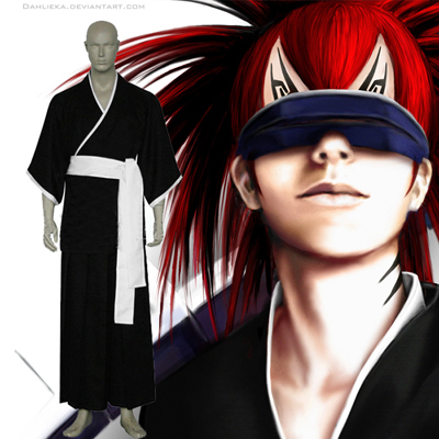 Bleach 6th Division Lieutenant Abarai Renji Cosplay Outfits