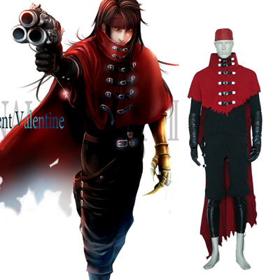 Final Fantasy VII 7 Vincent Valentine Cosplay Outfits
