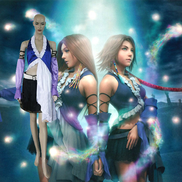 Final Fantasy XII 12 Yuna Lenne Song Dress Cosplay Outfits