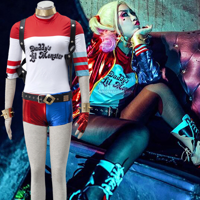Suicide Squad Harley Quinn Cosplay Halloween Kostymer Deluxe-utgave Norge