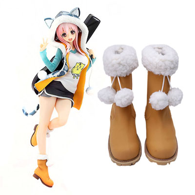 Super Sonico Sonico 1ST Cosplay Shoes