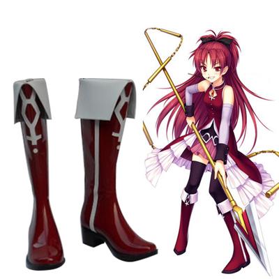 Puella Magi Madoka Magica Sakura Kyouko Cosplay Shoes