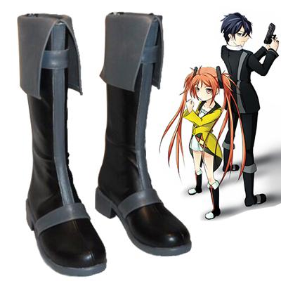 Black Bullet Satomi Rentaro Cosplay Shoes