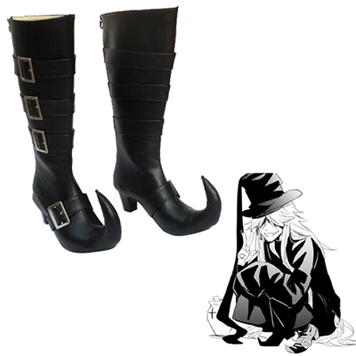 Black Butler Under Taker Cosplay Shoes