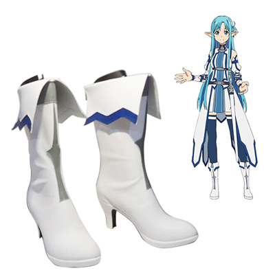 Sword Art Online Calibur Mother's Rosary Asuna Cosplay Boots