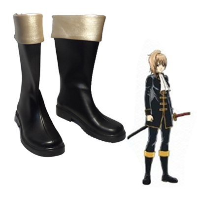 Gin Tama Okita Sougo Cosplay Shoes
