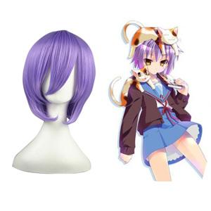 Haruhi Suzumiya Nagato Yuki Light Purple 35cm Wigs