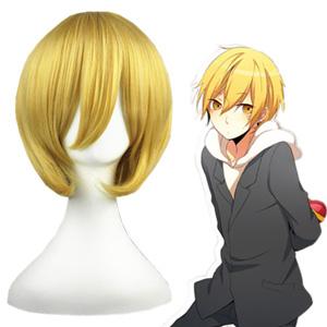 Durarara!! Kida Masaomi Golden 32cm Cosplay Wig