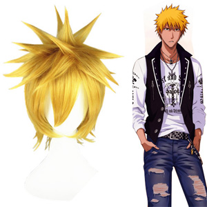 Bleach Kurosaki ichigo Light Blonde 35cm Cosplay Wigs