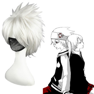Soule Eater SOUL EATER Silver Cosplay Wig