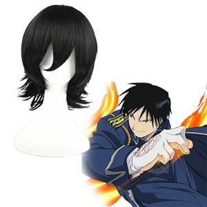 Fullmetal Alchemist Roy Mustang Black 32cm Cosplay Wig