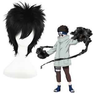 Naruto Aburame Shino Black 35cm Cosplay Wig