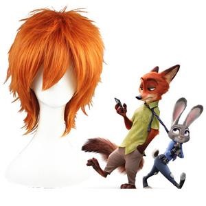 Zootopia Nick Wilde Orange Cosplay Wig