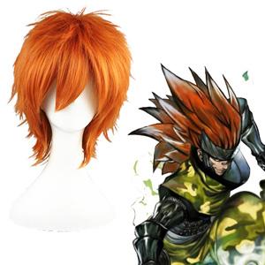 Naruto Sarutobi Sasuke Orange Cosplay Wig