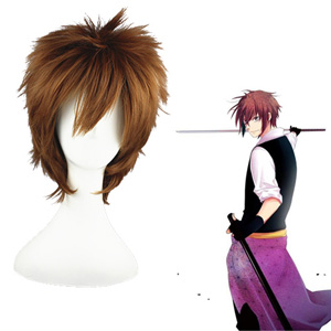 Hakuōki Toudou Heisuke Brown Cosplay Wig