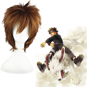 Naruto Inuzuka Kiba Brown Cosplay Wig