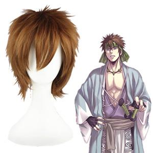 Hakuoki Nagakura Shinpachi maroon 30cm Full Cosplay Wig