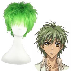Golden Strings Hihara Kazuki Mixed emerald 32cm Full Cosplay Wig