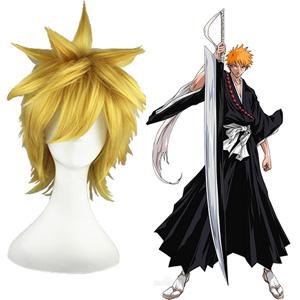 grim Reaper Kurosaki Ichigo Orange 30cm Full Cosplay Wig