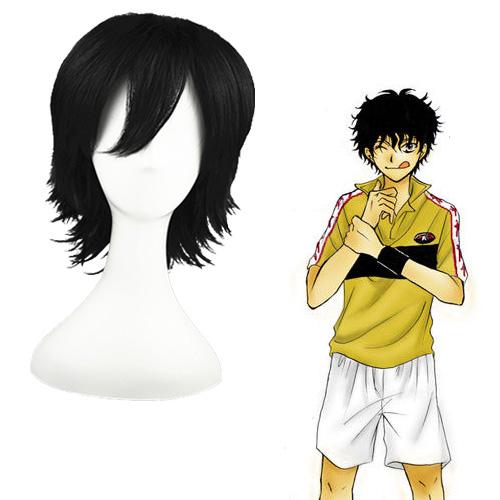 tennis Prince Akaya Kirihara Black 32cm Full Cosplay Wig