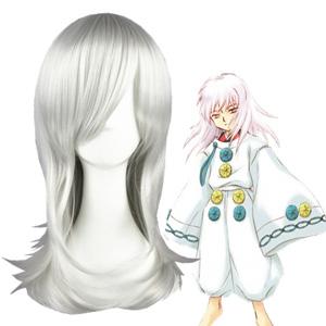Inuyasha HakuToshi Silvery White Cosplay Wig