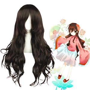 Hetalia: Axis Powers Taiwan Dark Brown Cosplay Wig