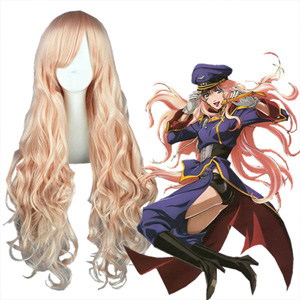 Super Dimension Fortress Macross Sheryl Light Pink Cosplay Wig