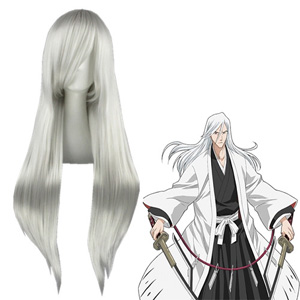 Pelucas Bleach Jūshirō Ukitake Blanca Plateada Cosplay