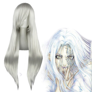 Angel Sanctuary Rosiel Silvery White Cosplay Wig