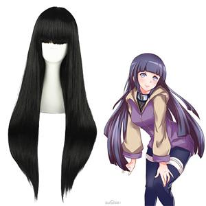 Naruto Hyūga Hinata Black Cosplay Wig