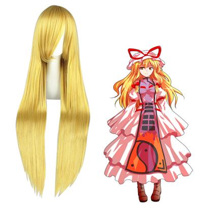 TouHou Project Yakumo Yukari Golden Cosplay Wig