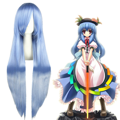 TouHou Project Hinanawi Tenshi Light Blue Cosplay Wig