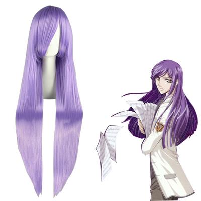 Pelucas La Corda d'Oro AzumaYunoki Lavender Cosplay