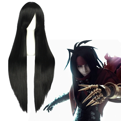 Final Fantasy VII Vincent Valentine Black Cosplay Wig