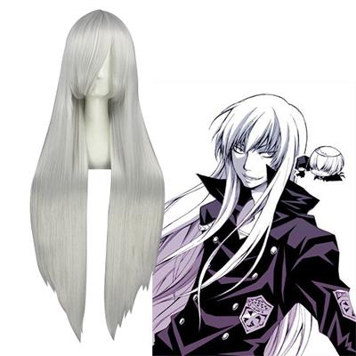 Katekyo Hitman Reborn! Superbia Squalo Silvery White Cosplay Wig