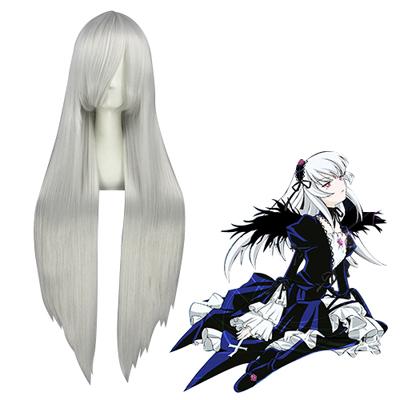 Rozen Maiden Suigintou Silvery White Cosplay Wig