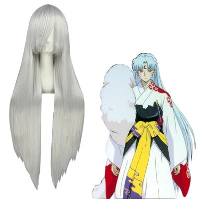 Inuyasha Sesshoumaru Silvery White Cosplay Wig
