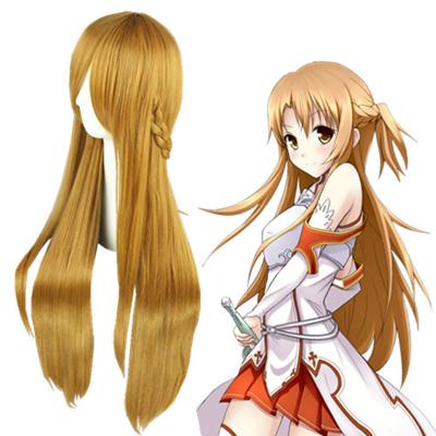 Sword Art Online Asuna Dark Brown Cosplay Wig