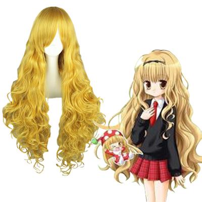 Shugo Chara Mashiro Rima Light Yellow Cosplay Wig
