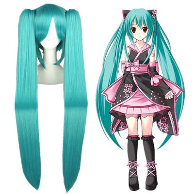 Vocaloid Hatsune Miku Blue Green Cosplay Wig